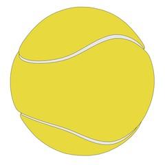 cartoon image of tennis ball