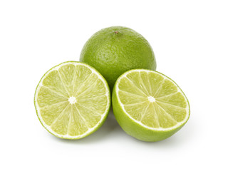 fresh lime with halfs