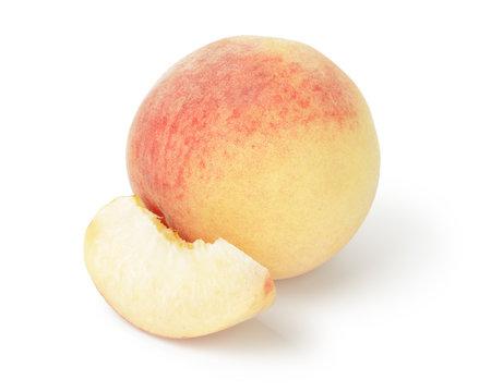 fresh peach with slice