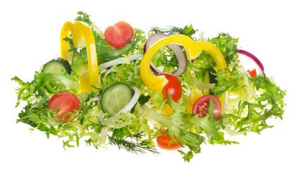 Wall Mural - light salad of fresh vegetables