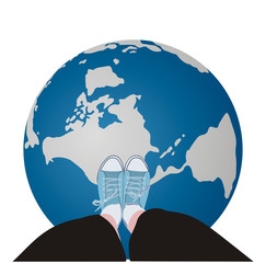 Globe underfoot
