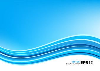 Blue and white waves package background
