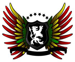 Rasta lion shield