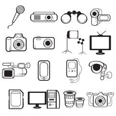 Electronic equipment icons
