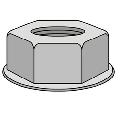 vector drawing of a nut