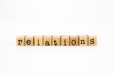 relations wording isolate on white background