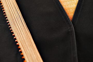 The abaya is the outer cloak like garment worn by Muslim women