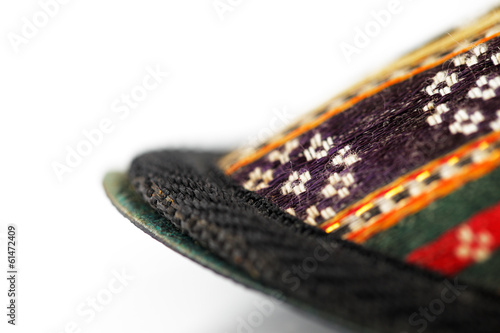 fa6ed88592d Traditional Arabic slippers shot against a white background