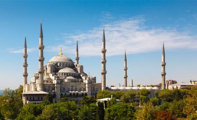 Blue Mosque against blue sky