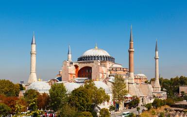 Hagia Sophia against the blue sky