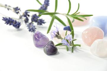 herbs and gemstones