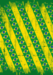 Grunge brazilian background