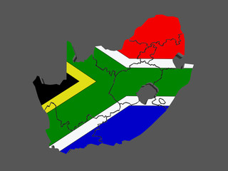 Map of Republic of South Africa (RSA)