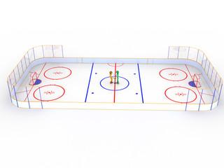 Hockey stadium with hockey  #12