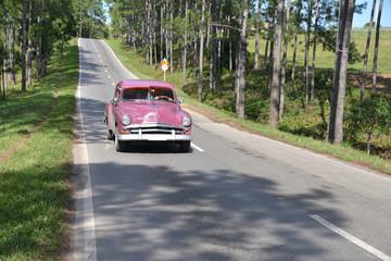Classi car in Vinales, Cuba