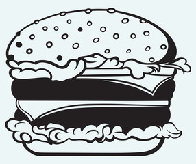 Big and tasty hamburger