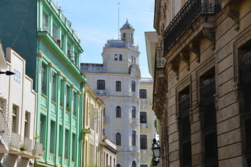Colourful buildings in Havana, Cuba