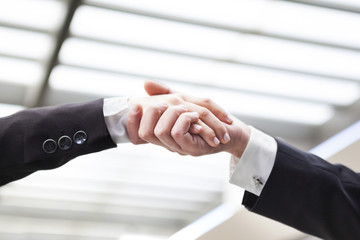 Business handshake at the office