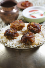 Kofta Biryani - A kofta based vegetarian biryani