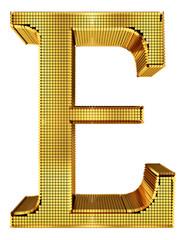Rich Golden Cube Alphabet - E