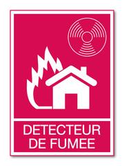 Panneau détecteur de fumée.