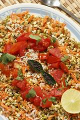 Moong Dal gajjar chaat - A healthy vegetarian recipe