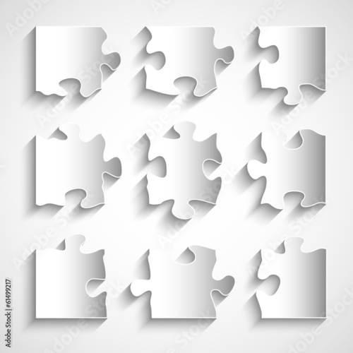flat design 9 piece puzzle template stock image and royalty free
