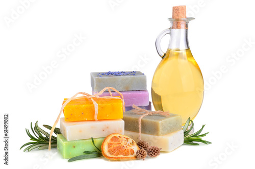 Fototapete Soaps and massage oil