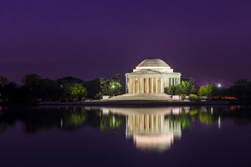 Wall Mural - the Jefferson Memorial during the Cherry Blossom Festival in DC