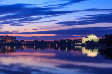 Fototapete - the Jefferson Memorial during the Cherry Blossom Festival in DC