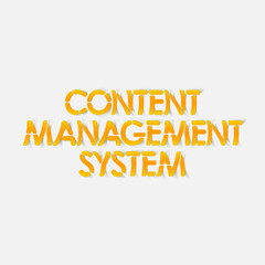 realistic design element: content management system