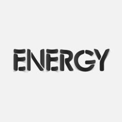 realistic design element: energy