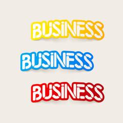 realistic design element: business