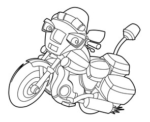 Coloring page - motorcycle - illustration for the children