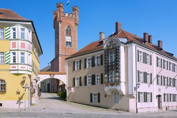 Fotomurales - Furth im Wald, Schlossplatz mit Landestormuseum, Glockenspiel
