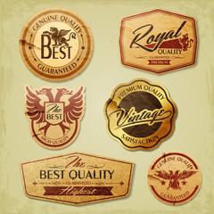 Vintage label for premium quality
