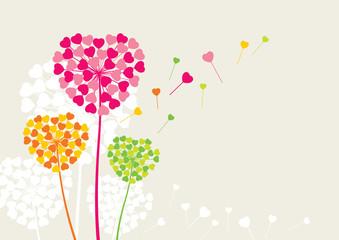 Flowers like a heart of love