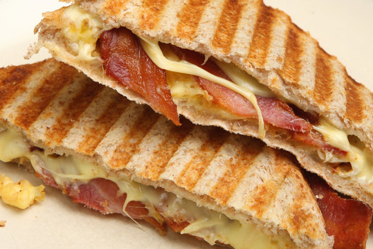 Toasted Sandwich with Bacon, Egg & Cheese
