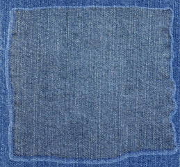 blue jeans fabric texture with frame