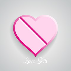 Vector love Pill, eps10, Valentine cure