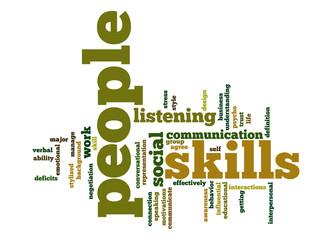People skills word cloud