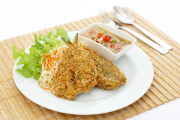 fried fish steak for healthy food