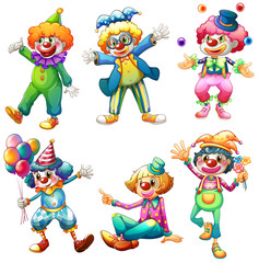 A group of clowns