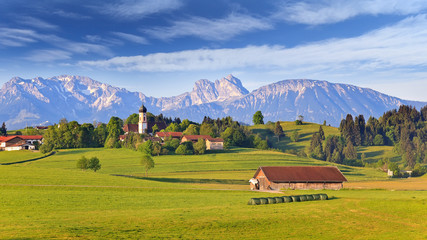 Bavarian landscape, Germany Wall mural