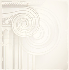 architectural background , ionic column