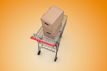 Cart with box