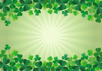 クローバー 聖パトリック  St. Patrick's Day Background