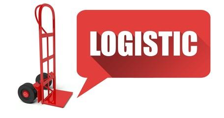 Pallet truck or forklift logistic transportation concept