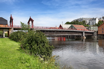 Holzbrücke Gamle Bybroen in Trondheim