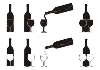 wine silhouettes